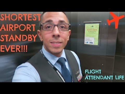 SHORTEST AIRPORT STANDBY EVER!! | FLIGHT ATTENDANT LIFE