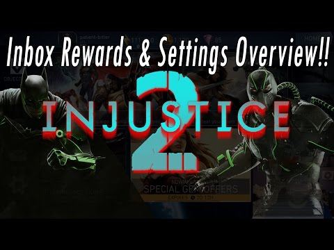 NEW 2017 Injustice 2 Mobile Game Setting & Inbox Messages With Free Gameplay Rewards Review