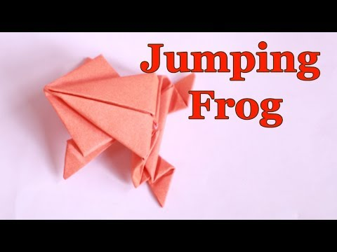 Origami Jumping Frog: How to make a paper frog that jumps high and far 🐸 DIY Craft Easy tutorial