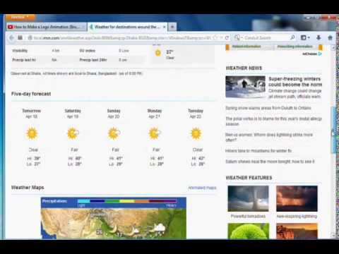 How to set display weather forecast on windows desktop YTV 8