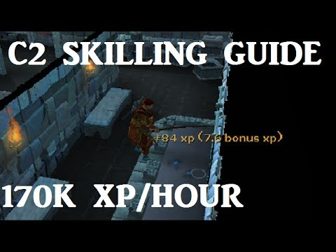 C2 Fishing and Woodcutting Guide - 170K XP per hour [Runescape 2014]