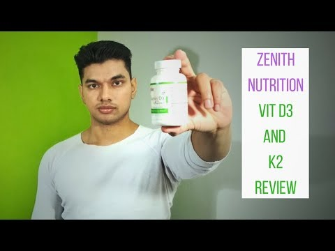 Zenith Nutrition Vitmain D3 and Vitamin K2 Review