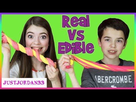 Edible Slime vs Real Slime / JustJordan33