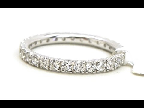 Diamond Eternity Rings in White Gold Design