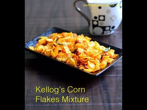 Cornflakes Mixture Recipe With Less oil - Indian Style Kellogg's Corn flakes Chivda