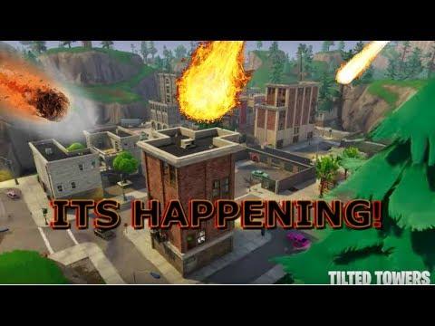 TILTED TOWERS IS DESTORYED! *GAMEPLAY* Fortnite Battle Royale