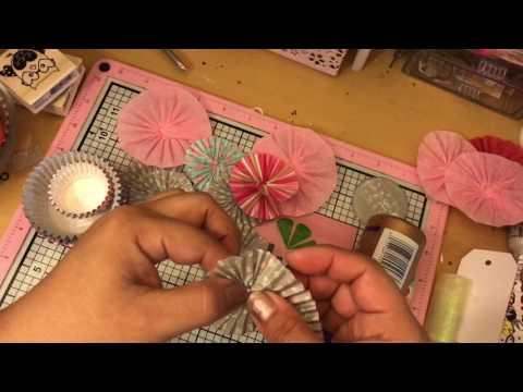 DIY: cupcake liner rosettes