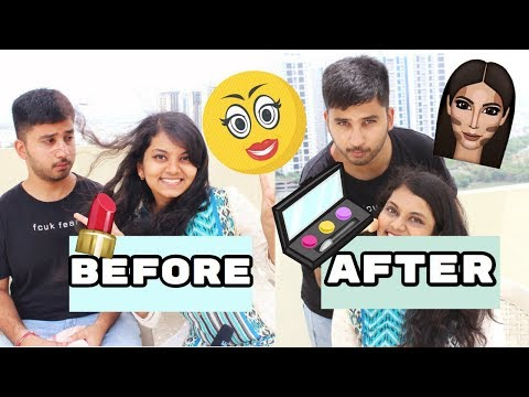MY GUY BEST FRIEND DOES MY MAKEUP CHALLENGE ! INDIAN EDITION | JYOTSNA MARISETTY
