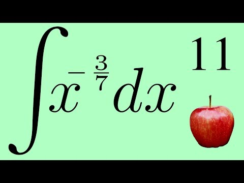 Calculus 2: The Integral of a Negative Exponent by the Power Law