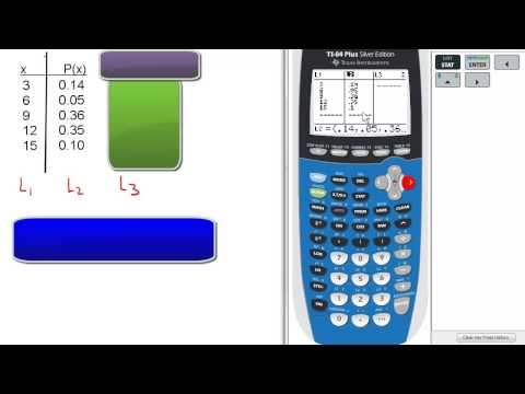 Mean from Probability Distribution (Midterm #25) TI 84 Calculator