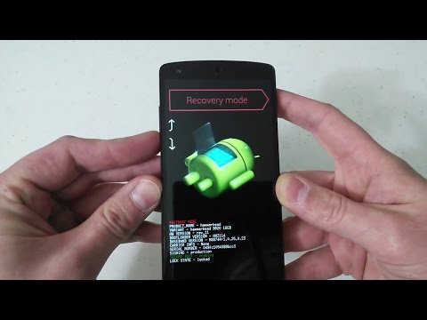 Nexus 5 Hard Factory Reset Fastboot Bootloader Recovery Mode