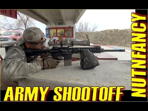 Army Shootoff: Friends Square Off Using TNP AR-15