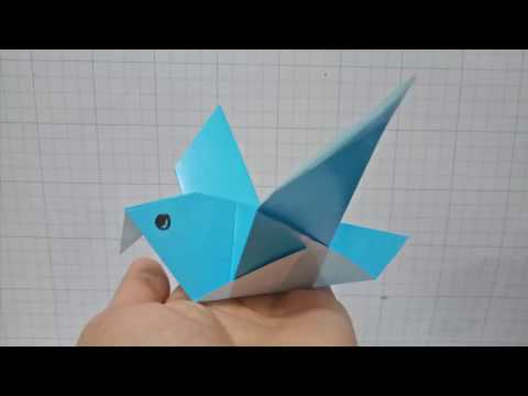 Origami  bird/Easy crafts 3D paper bird for kid/cute diy you need see