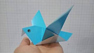 Simple bird origami » How to Origami Easy origami instruction at ...   180x320
