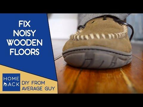 Noisy creaky old wooden floor boards