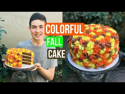SUPER EASY Fall Leaf Cake | Episode 48 Baking With Ryan