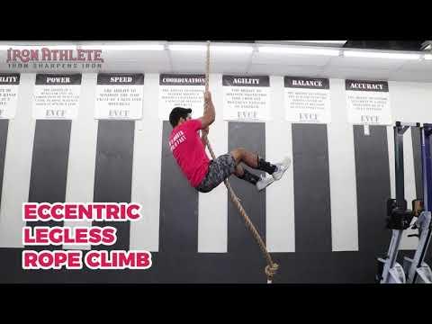 eccentric legless rope climb