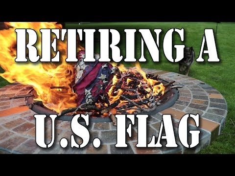 Retiring a U.S. Flag under 4 U.S.C. § 8(k) by Respectfully Burning