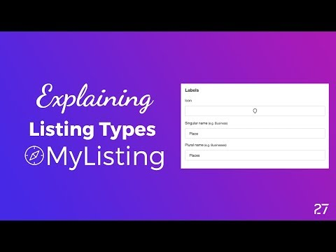 How to Creating a Listing Type in MyListing Theme