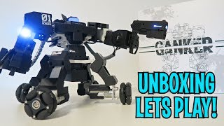 UNBOXING & LETS PLAY - GANKER 01 - FIGHTING MECH ROBOT - Full Review  + Weapons (Guns, Swords, more)