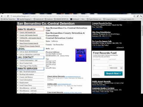 San Bernardino County Inmate Search - Jail Lockup Info