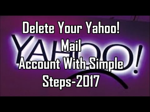 Delete Your Yahoo! Mail Account With Simple Steps-2017