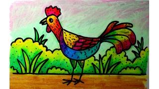 Cara Mewarnai Ayam