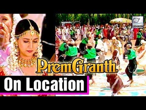 Prem Granth On Location   Madhuri Dixit   Rishi Kapoor
