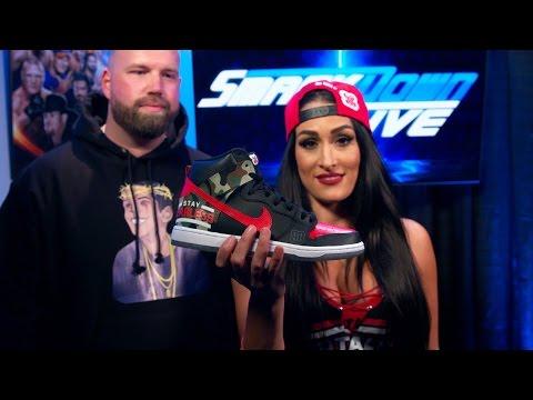 Nikki Bella's unveils her custom-made WrestleMania sneakers: Exclusive, March 21, 2017