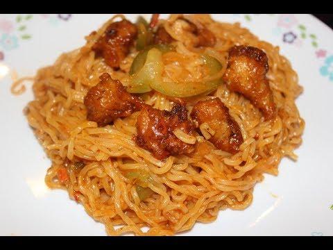 Perfect way to prepare Chilli Chicken Maggi Noodles