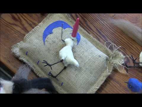 How to Needle Felt Song Birds: Part 2 by Sarafina Fiber Art