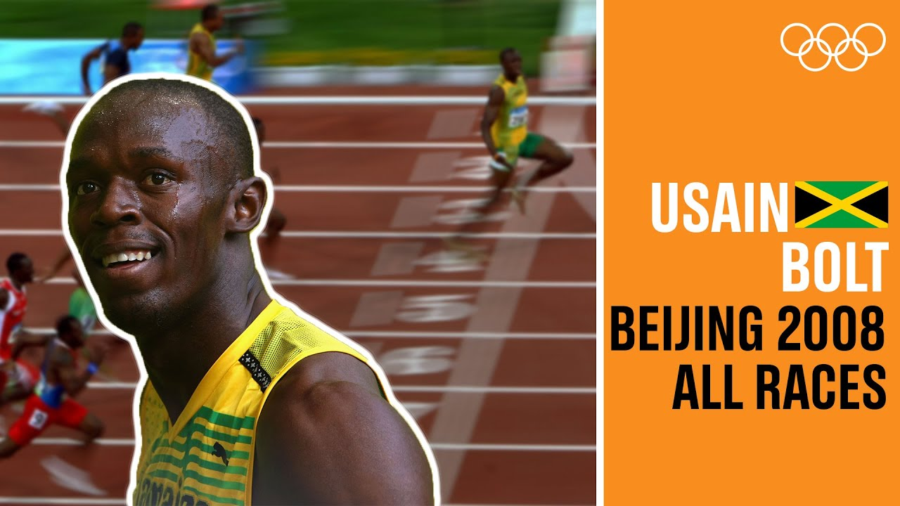 ALL of USAIN BOLT's 🇯🇲 individual races at Beijing 2008!