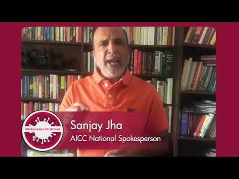 COVID-19: Sanjay Jha's message to PM Modi