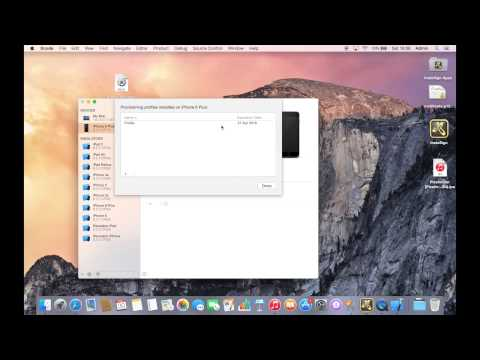 How to install a provisioning profile on Mac OS X