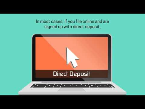 Direct deposit: quick and easy tax refunds
