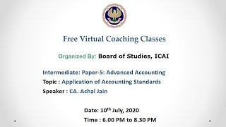 Intermediate: Paper-5: Advanced Accounting: Evening session- 10.07.2020