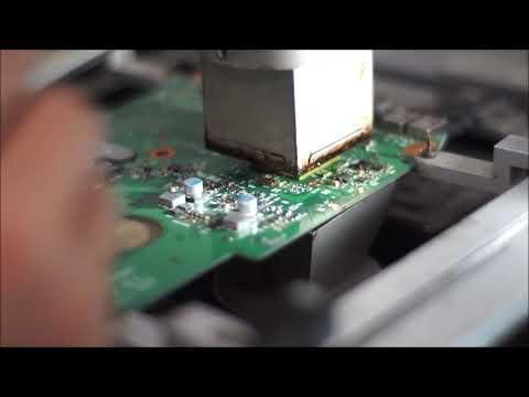 MENGGANTI CHIPSET SOUTHBRIDGE TOSHIBA C640D AMD #PART 1 - REBALL- SERVICE LAPTOP