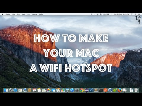 How to make your Mac a WiFi hotspot and share your net connection
