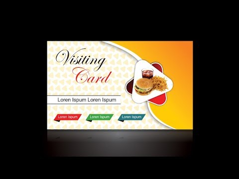 Visiting card in hindi | visiting card in Corel x7| CorelDraw Tutorials for Beginners | corel draw