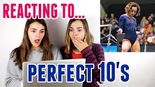 Reacting To Perfect 10 Gymnastics Routines