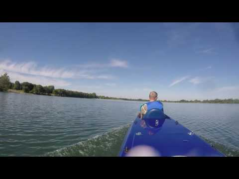Middle Tennessee State University's Solar Boat Running 28 MPH in the 2016 Solar Splash