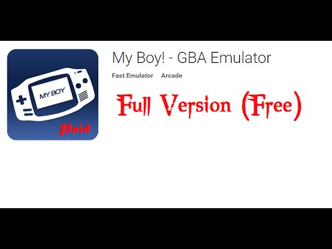 GBA emulator (My-Boy) Full version for android