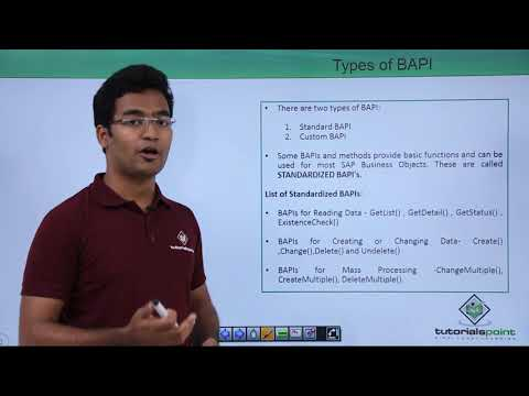 SAP ABAP - Types of BAPI