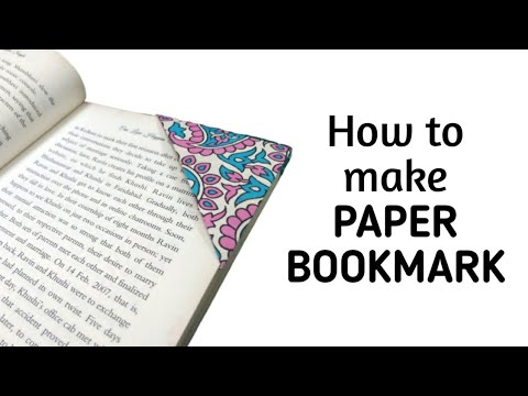 How to make origami paper bookmark | Origami / Paper Folding Craft, Videos & Tutorials.