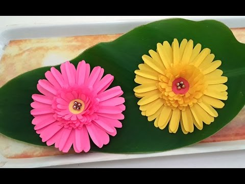 DIY Paper Crafts : How to Make Beautiful Daisy Paper Flowers Tutorial for Home Decoration