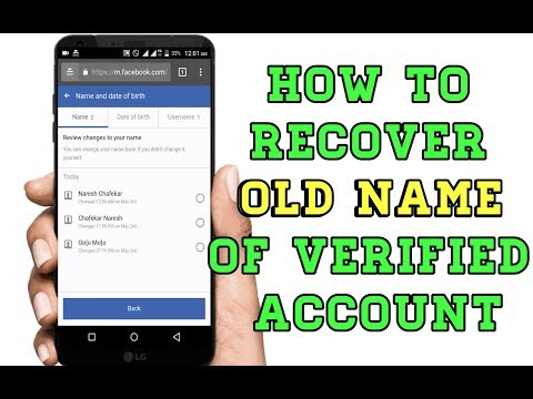 How to Recover Old Name Of Verified Facebook Account ( New Working Method)