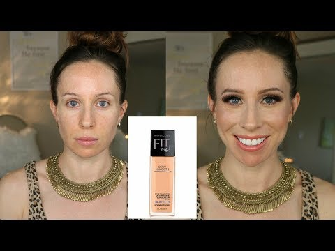 MAYBELLINE FIT ME DEWY + SMOOTH FOUNDATION REVIEW & DEMO