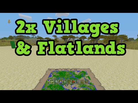 Minecraft Xbox 360 / PS3 Mostly Flat & 2 Villages / 2 Mob Spawners TU31 Seed