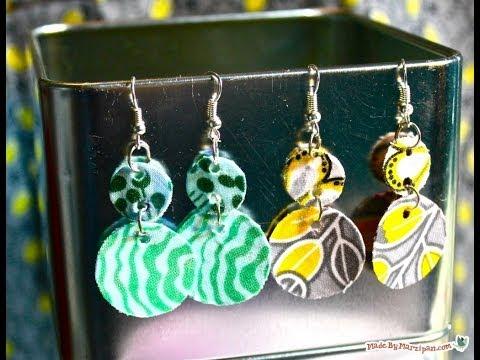 DIY Fabric Dangle Earrings