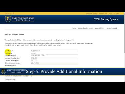Parking Services - How to Request a Visitor/Temporary Parking Permit